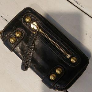 Linea pelle black wallet